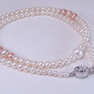 淡水真珠オリジナルデザインネックレス 約3.0-8.5mmの写真