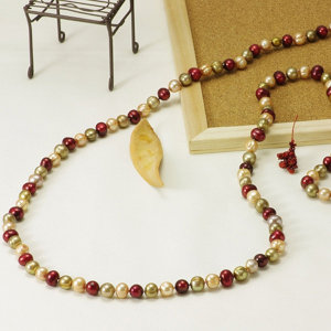 淡水真珠ロングネックレス 約8.5-9.5mmの写真