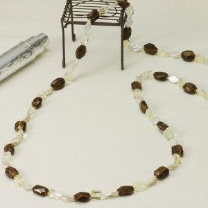 淡水真珠ロングネックレス 約13.0mm×約8.0mmの写真
