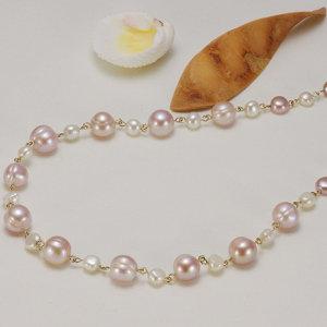 淡水真珠オリジナルデザインネックレス 約9.0-10.0mmの写真