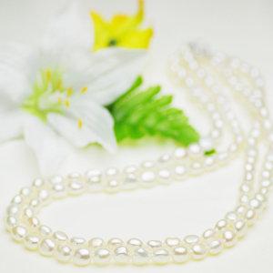 淡水真珠ロングネックレス 約8.0-9.0mmの写真