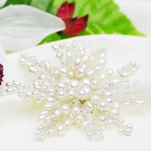 淡水真珠 パール コサージュ ブローチ 約3.0-7.5mmの写真