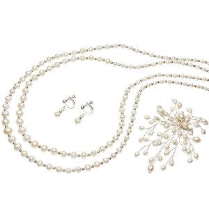 淡水真珠オリジナルデザインネックレス 約4.5-8mmの写真