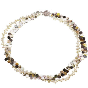 淡水真珠オリジナルデザインネックレス 約3.5mmの写真