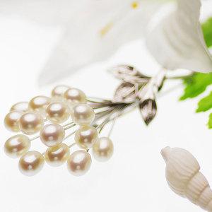 淡水真珠ブローチ 約6.0-6.5mmの写真