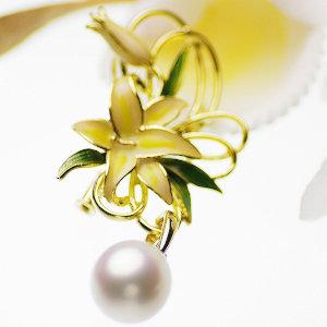 高級淡水真珠ブローチ 約11.0mmの写真