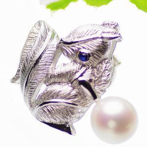 高級淡水真珠ブローチ 約10.5mmの写真