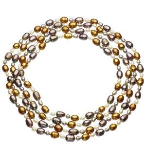 淡水真珠ロングネックレス 約4.5-8.0mmの写真