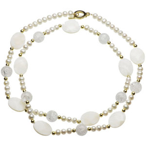 淡水真珠ロングネックレス 約5.5-6.5mmの写真