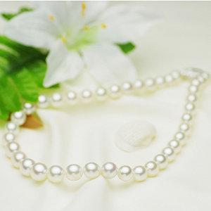 南洋白蝶真珠フォーマルネックレス 約9.0-11.5mmの写真