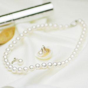 アコヤ花珠真珠フォーマルセット 約9.0-9.5mmの写真