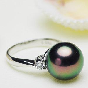 タヒチ黒蝶真珠リング 約12.0mmの写真