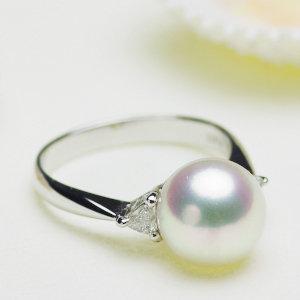 アコヤ花珠真珠リング 約9.5mmの写真