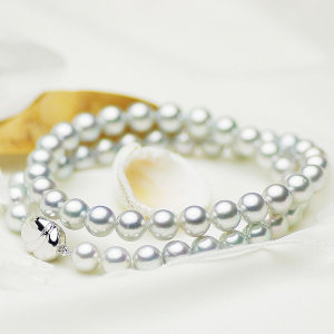 アコヤ真多麻真珠フォーマルネックレス 約7.5-8.0mmの写真