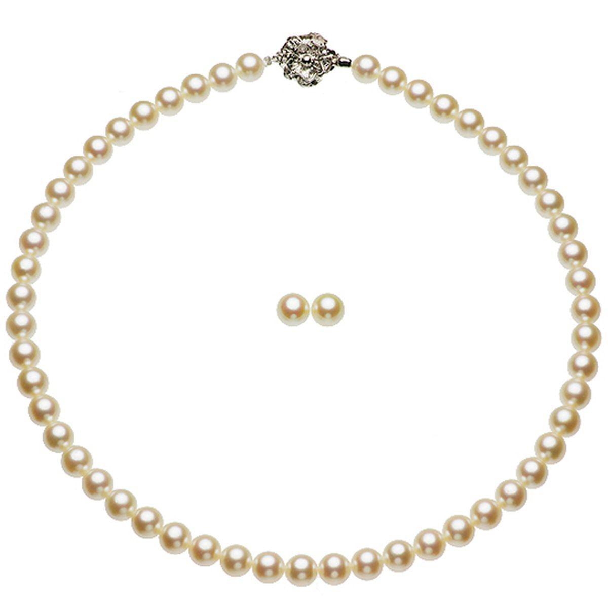 アコヤ真珠フォーマル ピアス セット 約7.5-8.0mmの写真