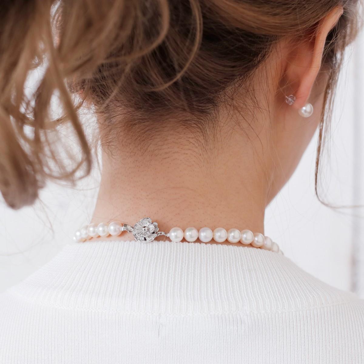 あこや本真珠 ピアス ネックレス セット 42cm フォーマル カジュアルの写真