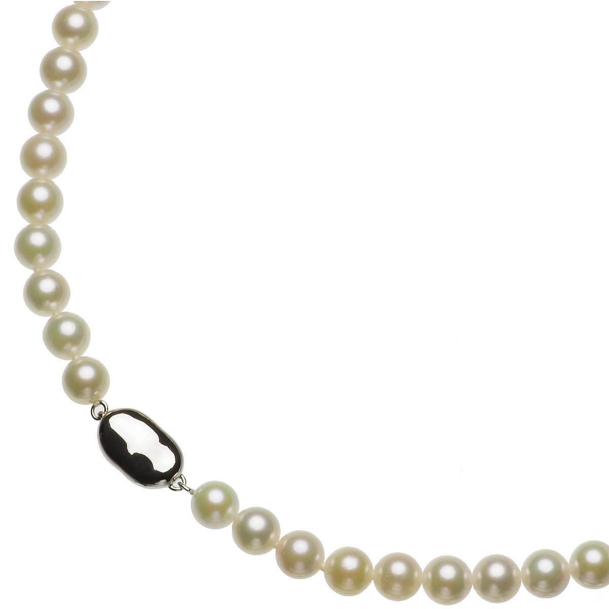 アコヤ 厚巻き 高品質 真珠 パール ピアス ネックレス セット 約7.5-8.0mmの写真
