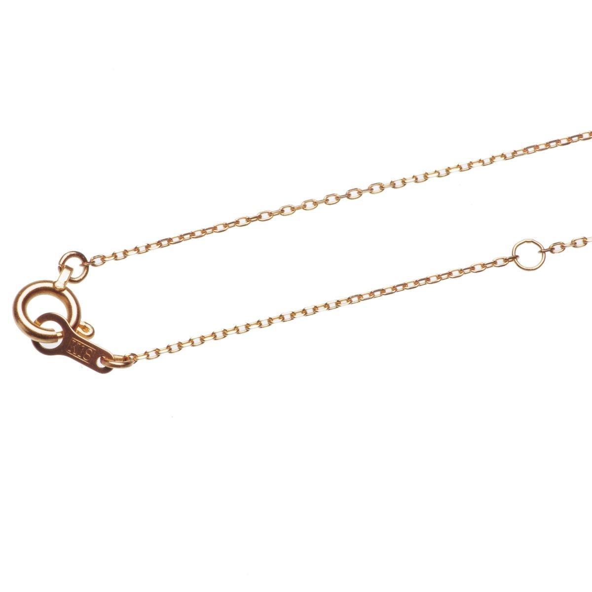 18金 ピンクゴールド あこや 本真珠 一粒 パール シンプル ペンダントの写真