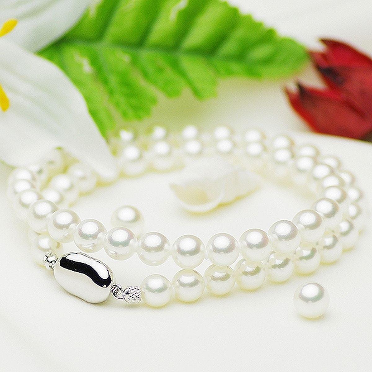 アコヤ 花珠 真珠 イヤリング ネックレス セットの写真
