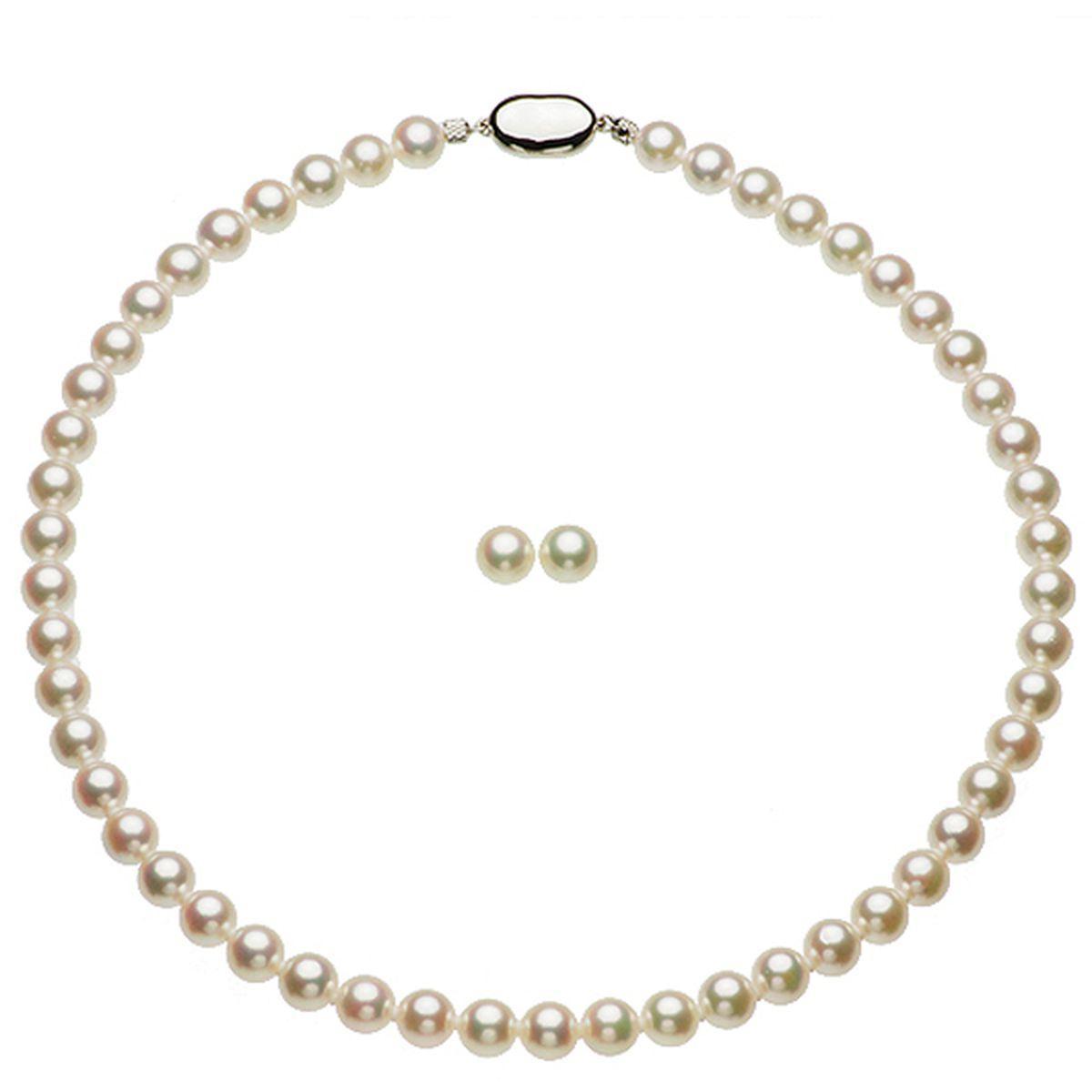 パール ネックレス 花珠アコヤ真珠 ネックレス2点セット 約7.5-8.0mmの写真