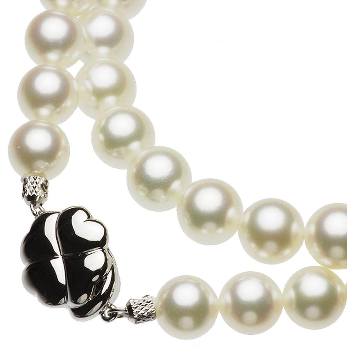 アコヤ 花珠 真珠 イヤリング ネックレス セット 約8.5-9.0mmの写真