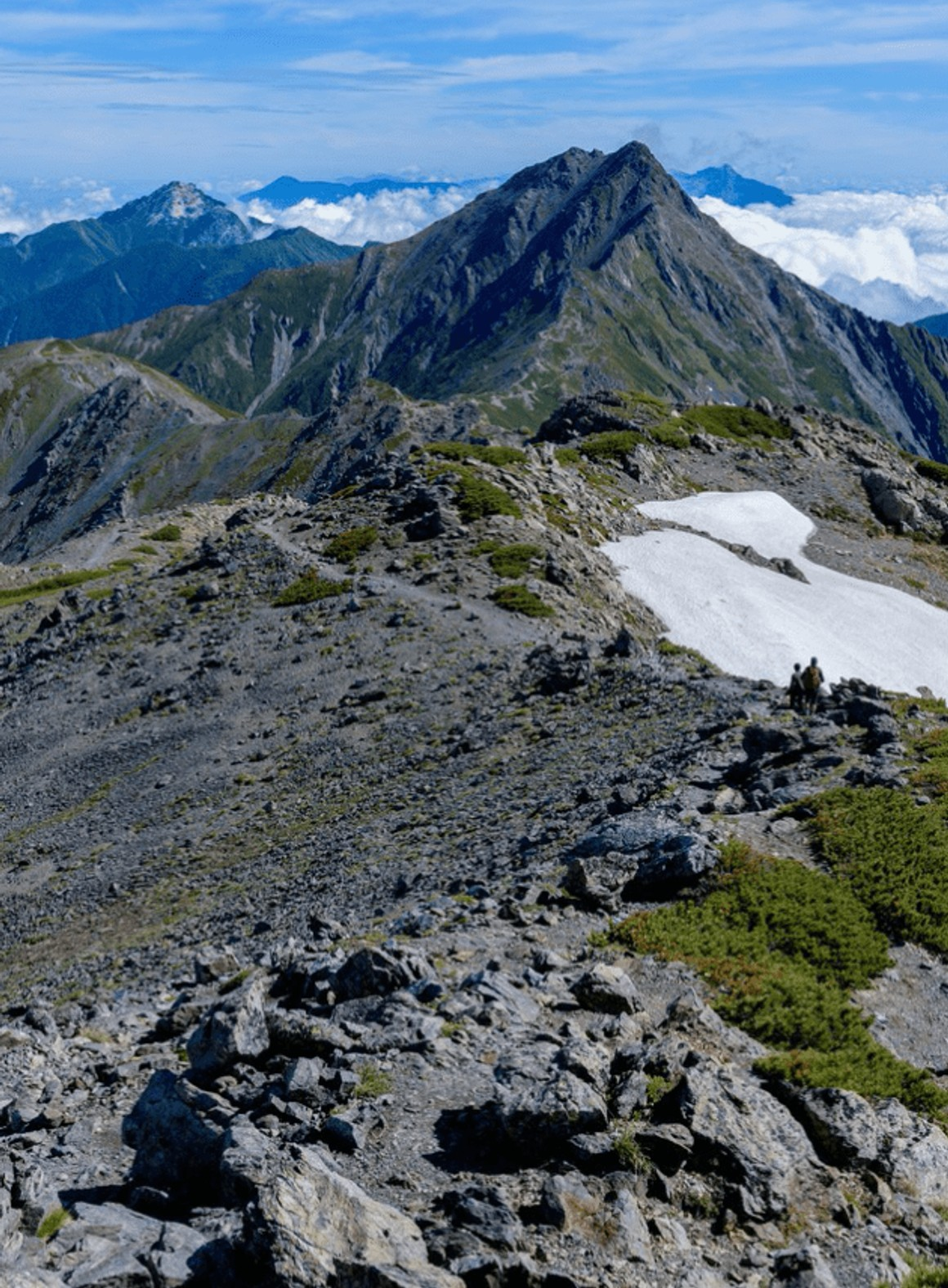 The trekking course that walks nature, and looks at the highest peak of the Southern Alps