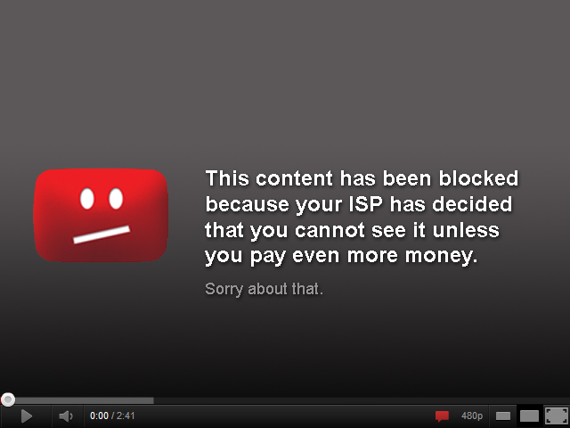 ISP - Net Neutrality Blocked