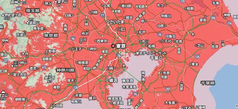 SoftBankの通信エリア