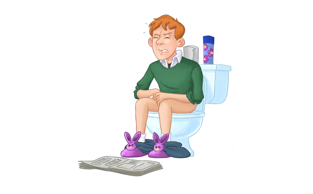 Constipation, feeling bloated, small hard stools.