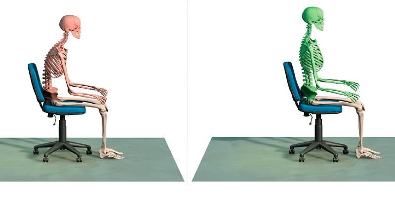 Posture et mal de dos