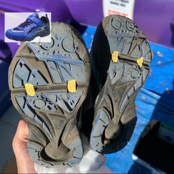 Amazon | [スーパースター] 運動靴 通学履き バネ バネのチカラ 男の子 イナズマ 軽量 マジック ゆったり SS J819 レッド 19 cm 2E | 運動靴・スニーカー