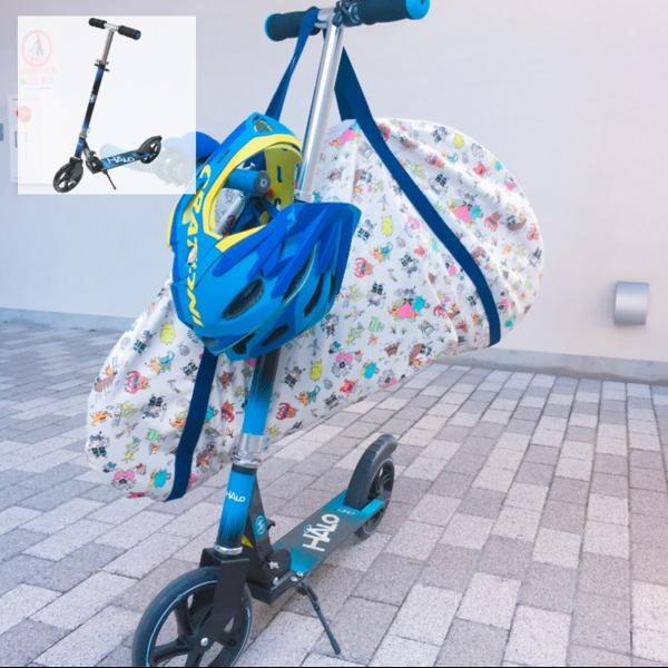 Amazon.co.jp: HALO(ハロ) Big Wheels Scooter キックボード キックスケーター [折りたたみ式/フットブレーキ付/ウィールABEC 5] … (ブルー/ブラック): おもちゃ