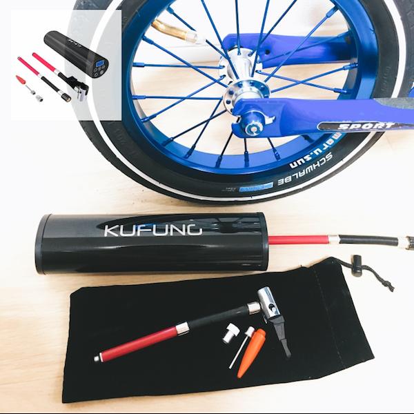 Amazon.co.jp: KUFUNG 12V充電式空気入れ 小型電動ポンプ 携帯便利 付自動車 バイク 自転車 ボール 浮き輪 風船用: 車&バイク