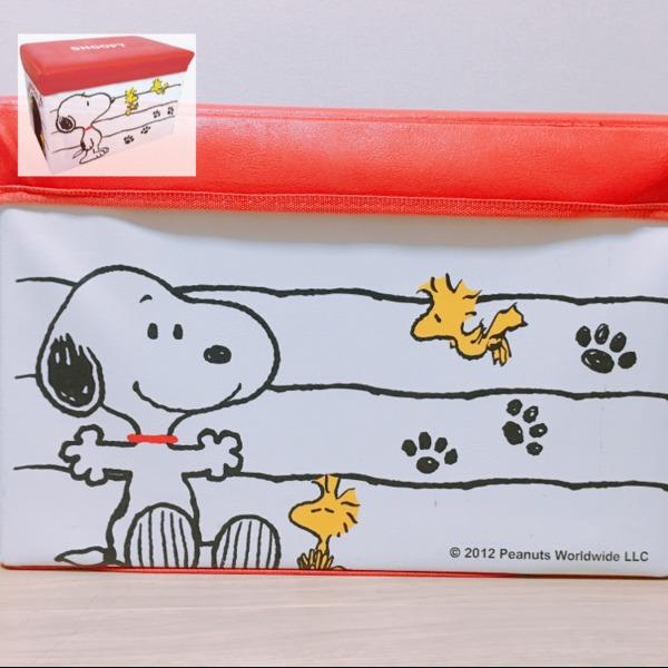 Amazon|スヌーピー キャラクターストレージボックス 折りたたみ可 ホワイト 012152|収納ケース・ボックス オンライン通販