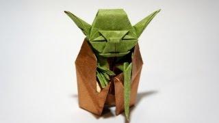 YouTube Origami Jedi Master Yoda (Fumiaki Kawahata) - Star Wars