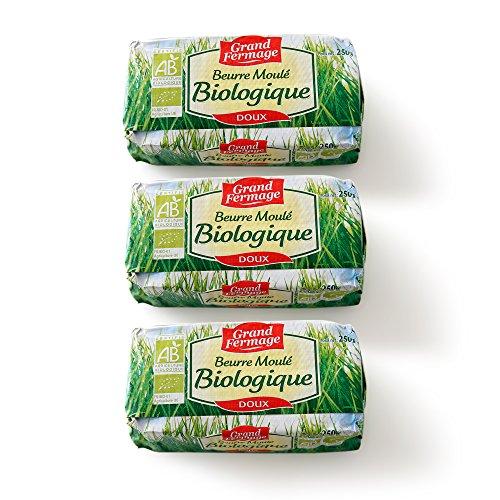 Amazon | 3個セット 有機バイオバター グラスフェッドバター 無塩バター | グランフェルマージュ | バター 通販