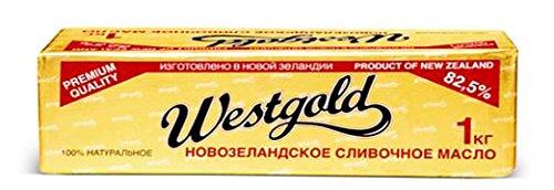 Amazon | ニュージランド産 グラスフェットバター無塩1kg 冷凍 | ウエストゴールド | バター 通販