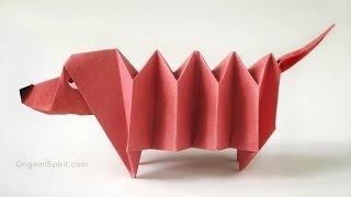 YouTube Origami Dachshund Dog : : Perro Salchicha