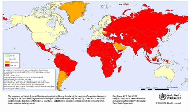 rabies country risk