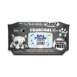 Absorb Plus Absorb Plus Charcoal Pet Wipes Baby Powder