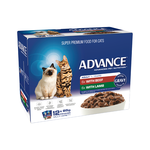 Advance Advance Adult Beef And Lamb In Gravy Wet Cat Food Pouches