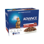 Advance Advance Adult Beef In Gravy Wet Cat Food Pouches