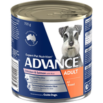 Advance Advance Adult Chicken Salmon And Rice Wet Dog Food Cans 12 x 700g