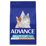 Advance Advance Adult Dry Multi Cat Food Chicken And Salmon