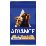 Advance Advance Adult Retrievers Large Breed Dry Dog Food Chicken And Salmon 13kg