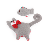 All For Paws Afp Christmas Cutzy Cat And Fish Grey