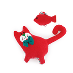 All For Paws Afp Christmas Cutzy Cat And Fish Red