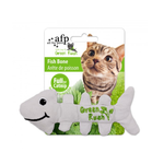 All For Paws Afp Green Rush Fish Bone Cat Toy