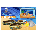 Aquatopia Aquatopia Hermit Crab Three Bowl Set