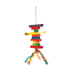 Avian Care Bird Toy Wood And Rope Style 1